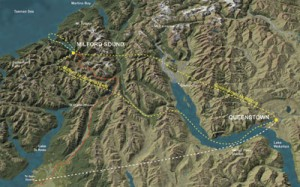 Milford Sound Flight Map