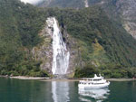 Boat cruise in Milford Sound